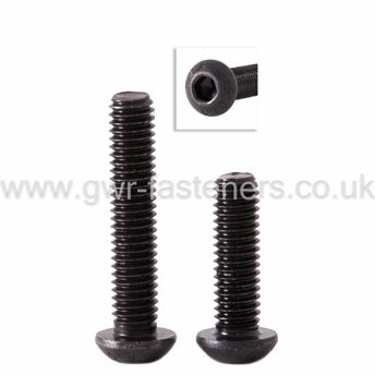 "3/8"" UNF Socket Button Screw - Self Colour Black"