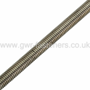 M12 x 1m Threaded Bar - A4 Stainless Steel