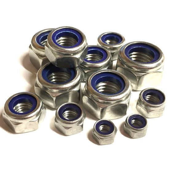 Metric Fine Pitch T Type Nyloc Nuts - DIN 985