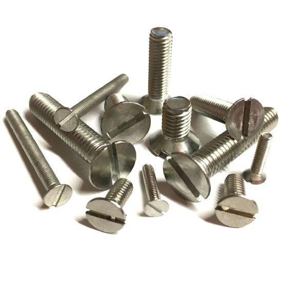 Metric Slotted Countersunk Machine Screws - A2 Stainless Steel