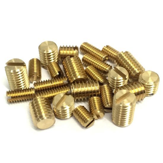 Metric Slotted with Flat End Grub Screws - DIN 551
