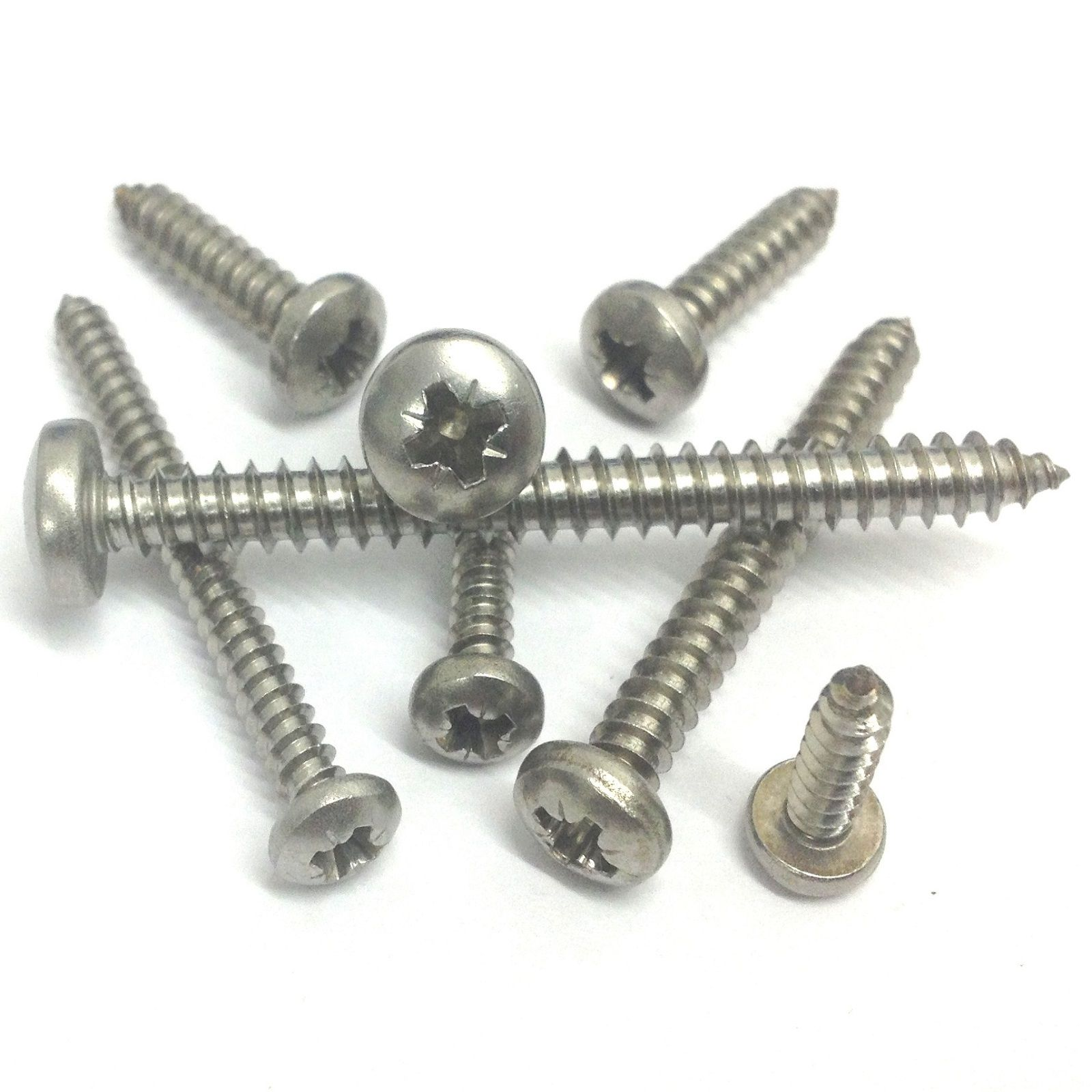no 8 pozidriv pan head self tapping screws a2 stainless. Black Bedroom Furniture Sets. Home Design Ideas